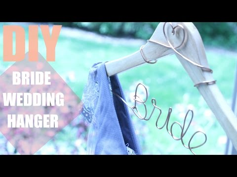 HOW TO MAKE A DIY PERSONALIZED WEDDING HANGER || KATIE BOOKSER