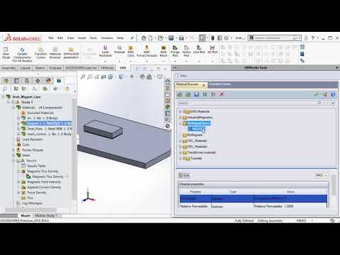 Define Custom Magnet inside EMS for SOLIDWORKS
