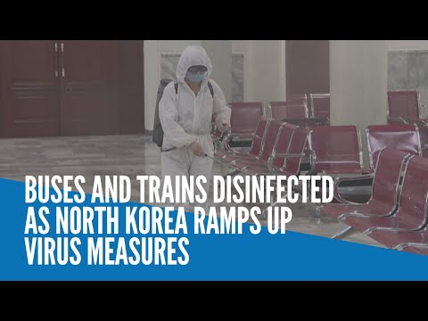 [Inquirer]  Buses and trains disinfected as North Korea ramps up virus measures