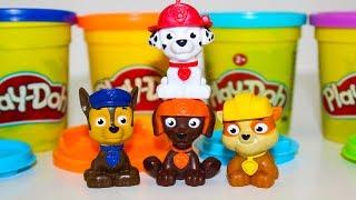 Щенячий патруль новые серии Развивающие мультики для детей про Пластилин Плей До Игрушки для детей