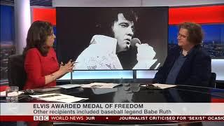 Elvis Presley Awarded Presidential Medal Of Freedom - Mark Beech Interview On BBC World
