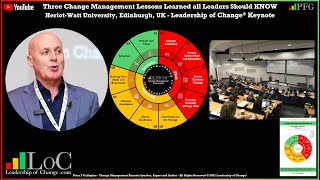 The Leadership of Change: Three Change Management Lessons Learned - Video