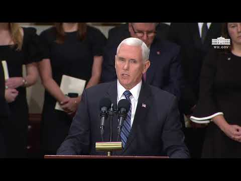 Vice President Pence Delivers Remarks at the Lying in State of the Honorable George H.W. Bush