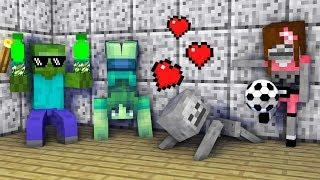 Monster School : GIRLS VS BOYS ACROBATICS CHALLENGE - Minecraft Animation