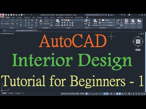AutoCAD Interior Design Tutorial for Beginners - 1