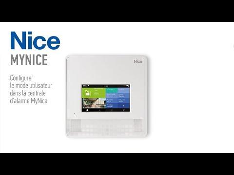 Comment configurer le mode utilisateur dans la centrale d'alarme MyNice