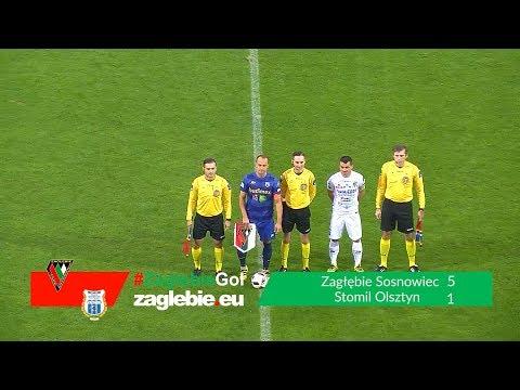 Bramki z meczu Zagłębie Sosnowiec - Stomil Olsztyn