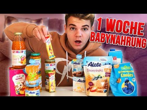 Eine Woche nur BABY PRODUKTE essen! 😱😂 - Selbstexperiment