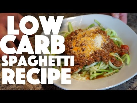 Video Low Carb Spaghetti Recipe - keto recipes - healthy recipe channel