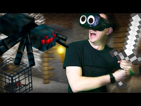 Minecraft Mixed Reality | Poisonous Cave Spiders!