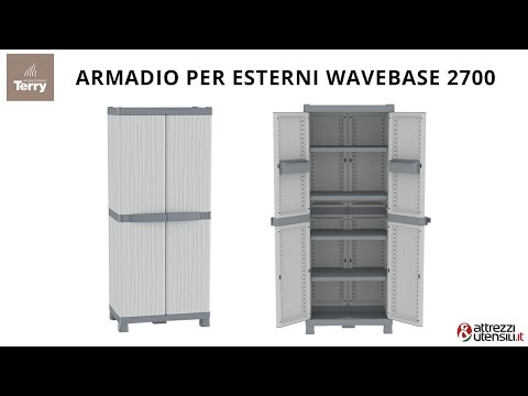 Armadio per Esterni Terry Wave Base 2700