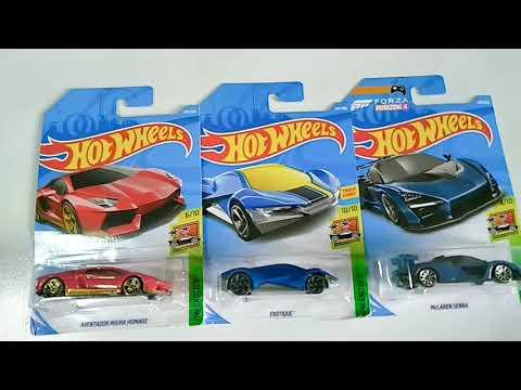 Hot Wheels Exotics - Lamborghini Aventador, Exotique, McLaren Senna - 1:64 Scale Diecast Model Cars