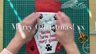 Cat And Dog Christmas Stockings Machine Embroidery Design (fully Lined) In The Hoop ITH Tutorial