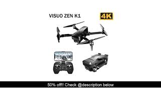 Review VISUO ZEN K1 5G WIFI FPV GPS 4K 720P HD Dual Camera 90 Degrees Wide Angle Foldable RC Drone