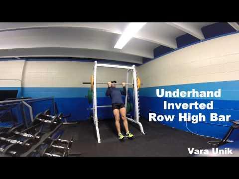 Smith Machine Underhand Inverted Row (high bar)