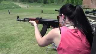 Shooting A Full Auto Polytech AK47