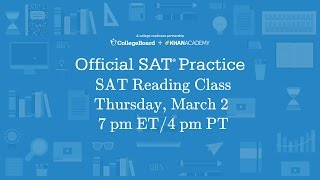Join our live SAT reading class