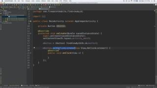 Android Studio Tutorial: Using findViewById