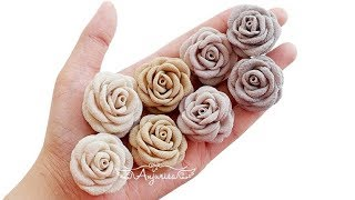 Mini Fabric Flowers | Fabric Rose Flower Tutorial