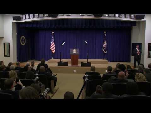 President Obama speaks at White House