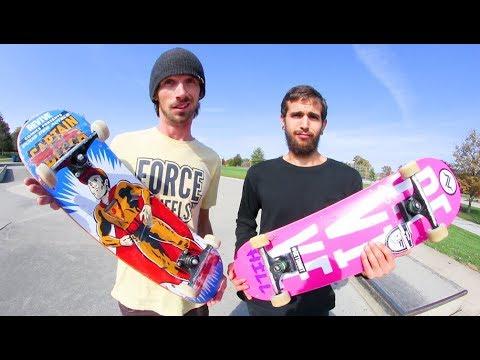 CAN YOU SKATE YOUR FRIEND'S SKATEBOARD!? / Alex Buening VS Thomas Alvarez