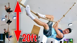 Put A GIANT ROPE SWING In My Living Room!