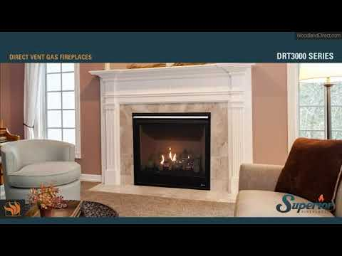 DRT3000 Direct Vent Gas Fireplace by Superior