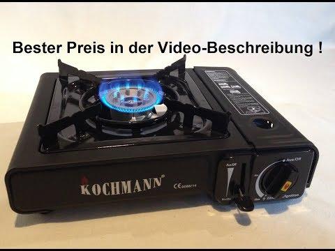 ★Test:  Sommerkocher - Original Kochmann C-3000 Gaskocher + Gaskartusche Msf-1a ↓★↓
