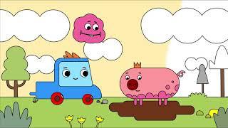 Мультфильм про машинки -  Грузовичок Пик - Раскраска - Маленькая свинка -  учим цвета