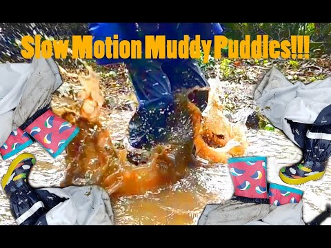 Slow Motion Muddy Puddles