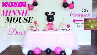 Minnie Mouse DIY Party Decorations | Minnie Mouse DIY Centerpiece | DIY Kids Party Decor For Girls