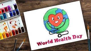 World Health Day Poster Drawing