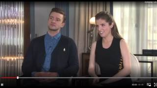 "Anna Kendrick & Justin Timberlake on Singing ""Anna was so good"""