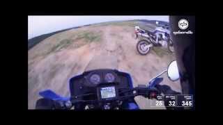 preview picture of video 'Łaziska Górne - podjazd na mniejszą hałdę XT600Z Tenere'