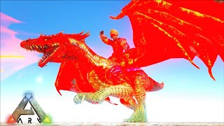 My New Flame Drake & Snow Drake Annunaki Reborn ! Ark Crystal Isles Ark: Survival Evolved Modded E13