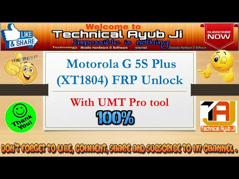 moto g 5s/g5/g5 plus/android ver 7 0 7 1 7 1 1/frp unlock by