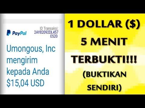 Video DAPAT $1 DOLLAR DALAM WAKTU 5 MENIT - TERBUKTI MEMBAYAR!! (Disertai Bukti)