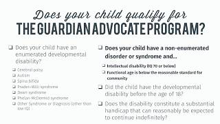 Does your child qualify for Florida's Guardian Advocate program?