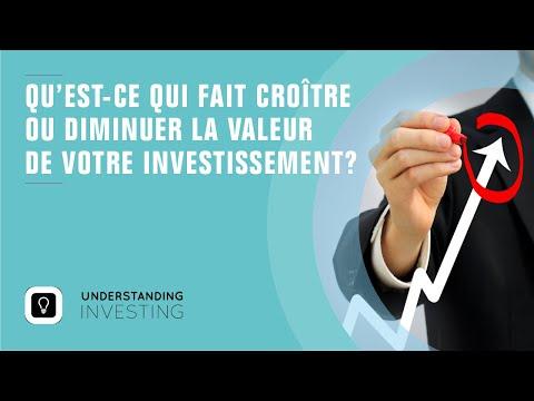 Qu'est-ce qui fait changer la valeur de votre investissement? Partie 1