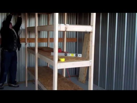 Build your own wooden garage storage shelves lifehacker for Cheapest way to build your own home