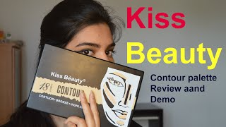 Kiss Beauty 18 colours contour palette Review and Demo| Naghmasyed