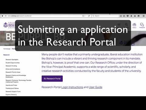 Long Tutorial - Submitting an application in the Research Portal