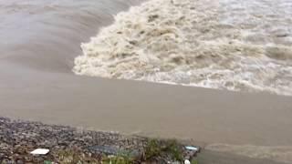 武庫川水位がやばい!171号線から、上武庫橋あたりまで2018.7.13AM6:00