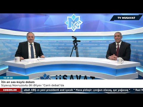 """İlin debatı: Siyavuş Novruzovla Əli Əliyev """"Canlı debat""""da! Mövzu Qarabağ, baxış fərqli!"""
