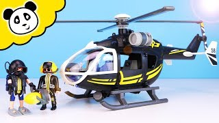 Playmobil Polizei - SEK Rettungshubschrauber mit Taucher - Spielzeug auspacken & spielen Pandido TV