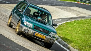 Fun Lap on the Nürburgring! Subaru Forester with Cheap Tyres & Stock brakes! (ONBOARD)