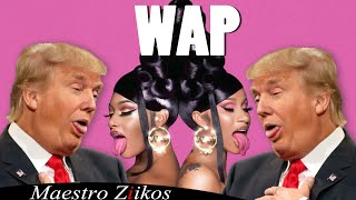 Trump Sings WAP by Cardi B feat. Megan Thee Stallion