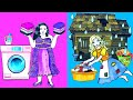 Paper Dolls Dress Up - Fat & Thin Prom Rich and Poor Dresses Handmade - Barbie Story & Crafts