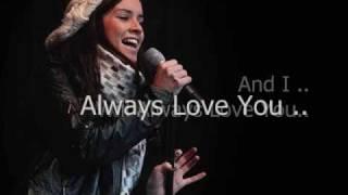 Lucie Jones i Will Always Love You Lyrics.