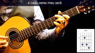 "Video thumbnail of ""Cómo tocar/how to play bossanova ""Eu sei que vou te amar"" on guitar"""